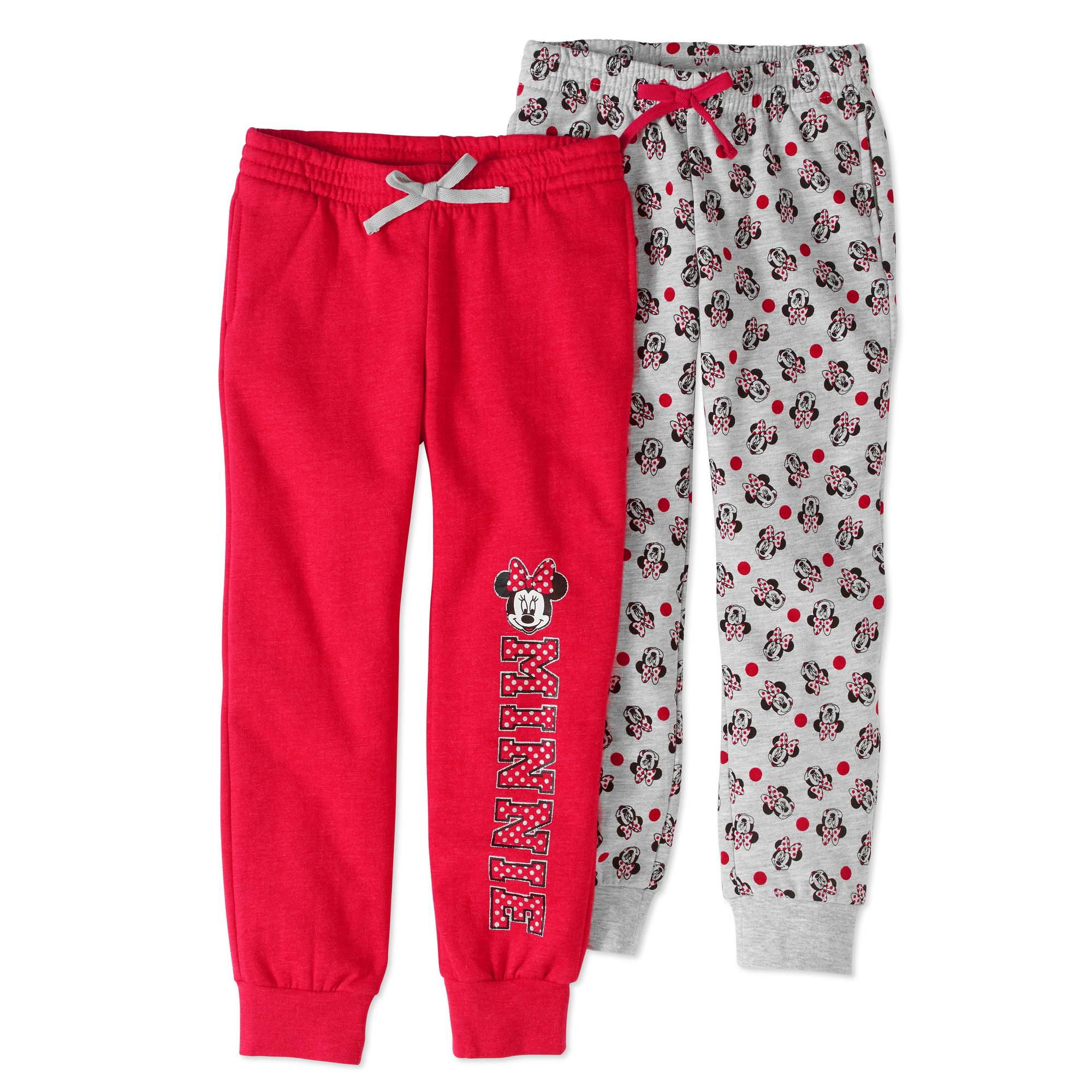 Minnie Mouse Girls' Jogger Pants 2-Pack Set