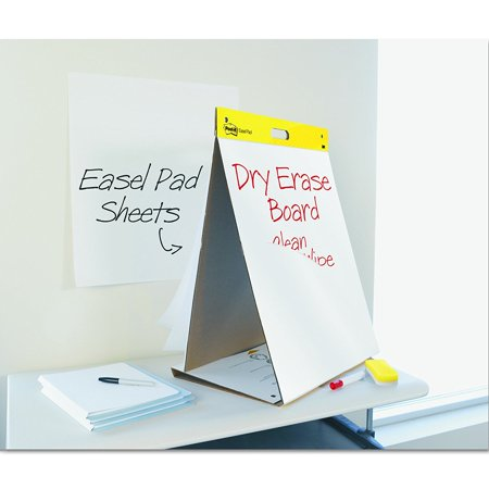 Post it tabletop easel pad with dry erase surface 20 x 23 inches