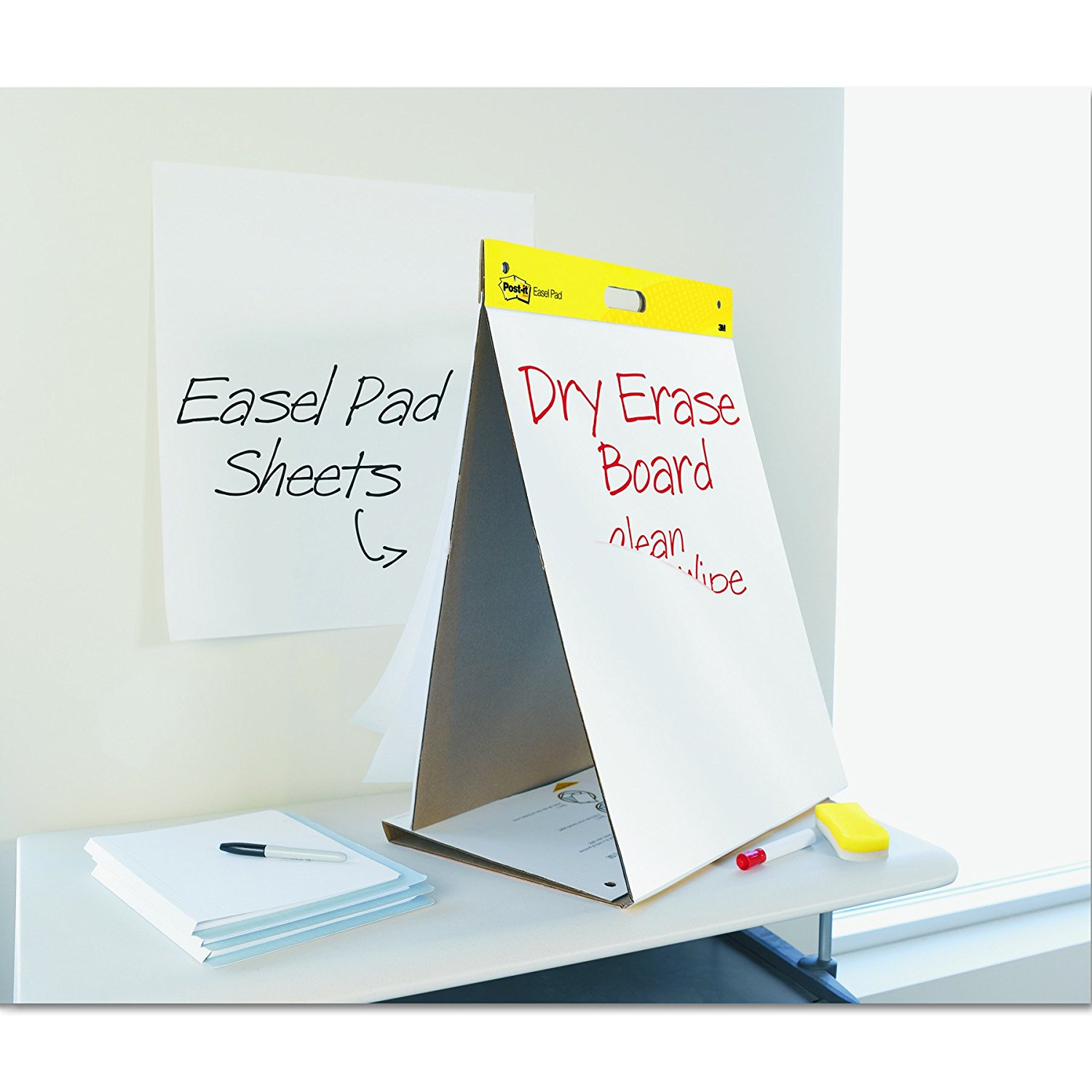 Post-it Tabletop Easel Pad with Dry Erase Surface, 20 x 23-Inches, White, 20-Sheets/Pad