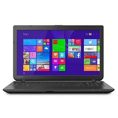"Toshiba Jet Black 15.6"" Satellite C55-B5319 Laptop PC with Intel Celeron N2840 Processor, 4GB Memory, 500GB Hard Drive and Windows 10 Home"