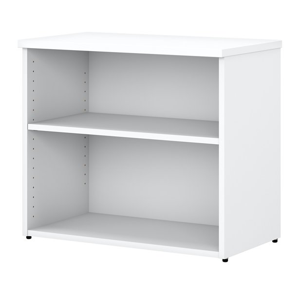 Bush Business Furniture Easy Office 2 Shelf Bookcase- White