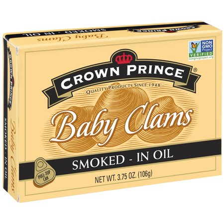 (3 Pack) Crown Prince Smoked Baby Clams In Oil, 3.75 (Fighting Clam)