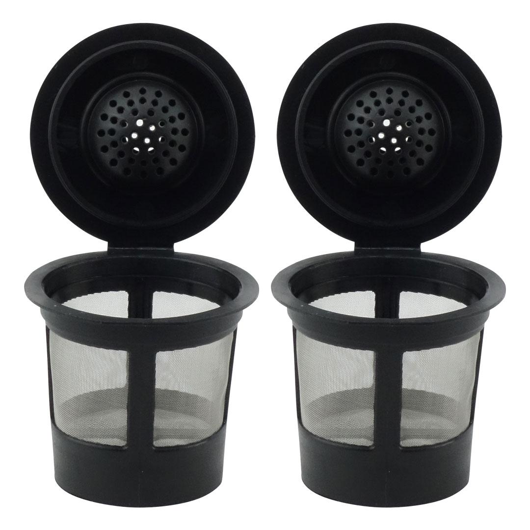 2 Pack Keurig Single K-Cup Solo Reusable Coffee Filter Pods Stainless Mesh for K10 K15 K40 K45 K55 K60 K65 K70 K75 K79
