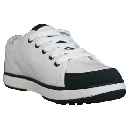 USA Dawgs WCG1827 DAWGS Womens Canvas Golf Crossover Shoe - White-Navy - Size 6