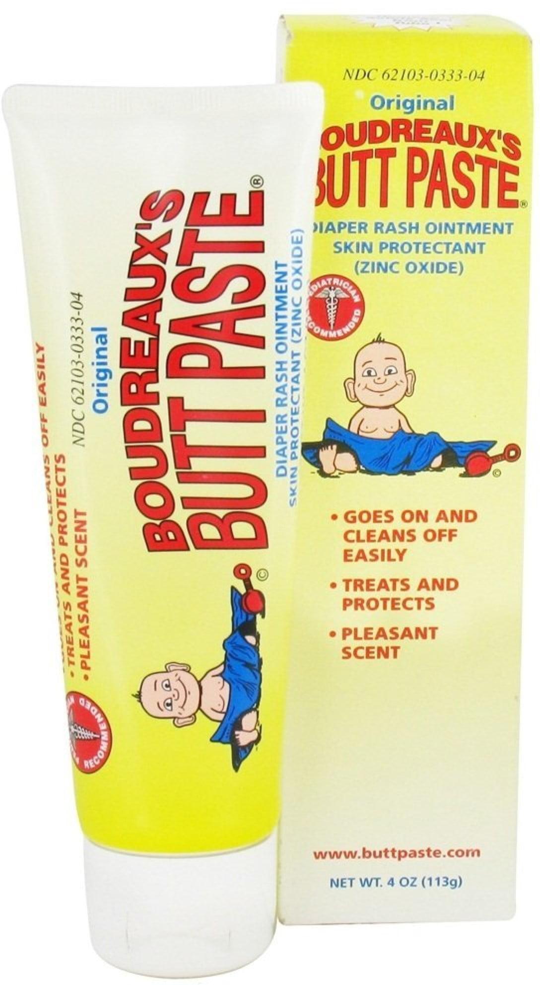 Boudreaux's Butt Paste Tube, Diaper Rash Ointment 4 oz (Pack of 6) by Boudreaux%27s