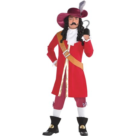 Captain Hook Halloween Costume for Men, Peter Pan, Standard, with Accessories