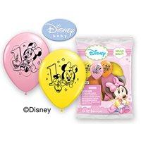 "Party Supplies -Pioneer Latex Balloons 6 ct 12"" Disney Minnie 1st Birthday 30848"