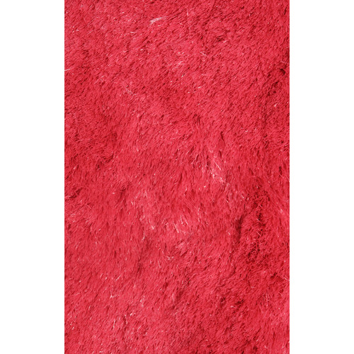L.A. Rugs Silky Shag Red Indoor Area Rug