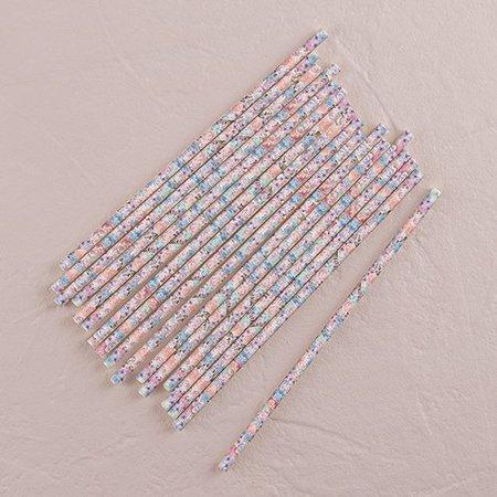 Vintage Floral Paper Drinking Straws ()