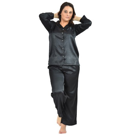 - Up2date Fashion's Women's Striped Satin Pajamas