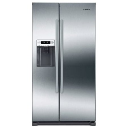 """Bosch B20CS30SN 36"""" Wide 20.2 Cu. Ft. Energy Star Rated Side by Side Door Refrigerator with MultiAirflow Cooling System"""