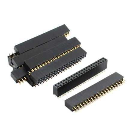 2.54mm Pitch Double Row 40-Pin Female Pin Header Socket Strip 10Pcs
