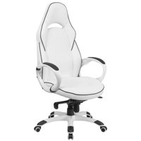 Scranton & Co High Back Faux Leather Office Chair in White