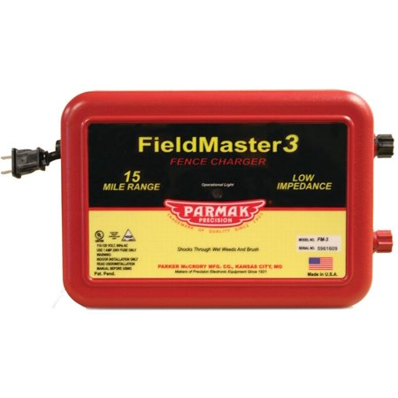 Field Master 3 VM3/FM3 Low Impedance AC Powered Electric Fence Charger, 110 - 120 VAC Input