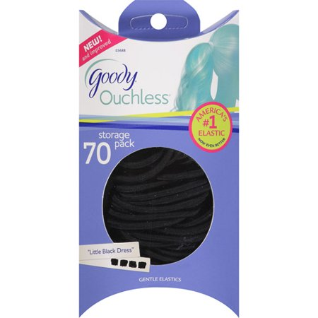Goody Ouchless Little Black Dress Gentle Elastics  70 Count