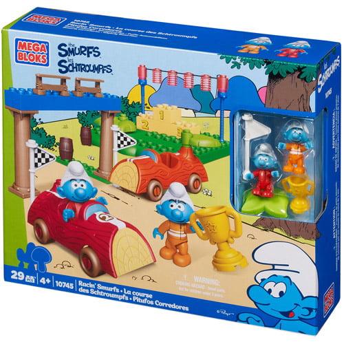 Mega Bloks Smurfs Racin' Smurf Play Set