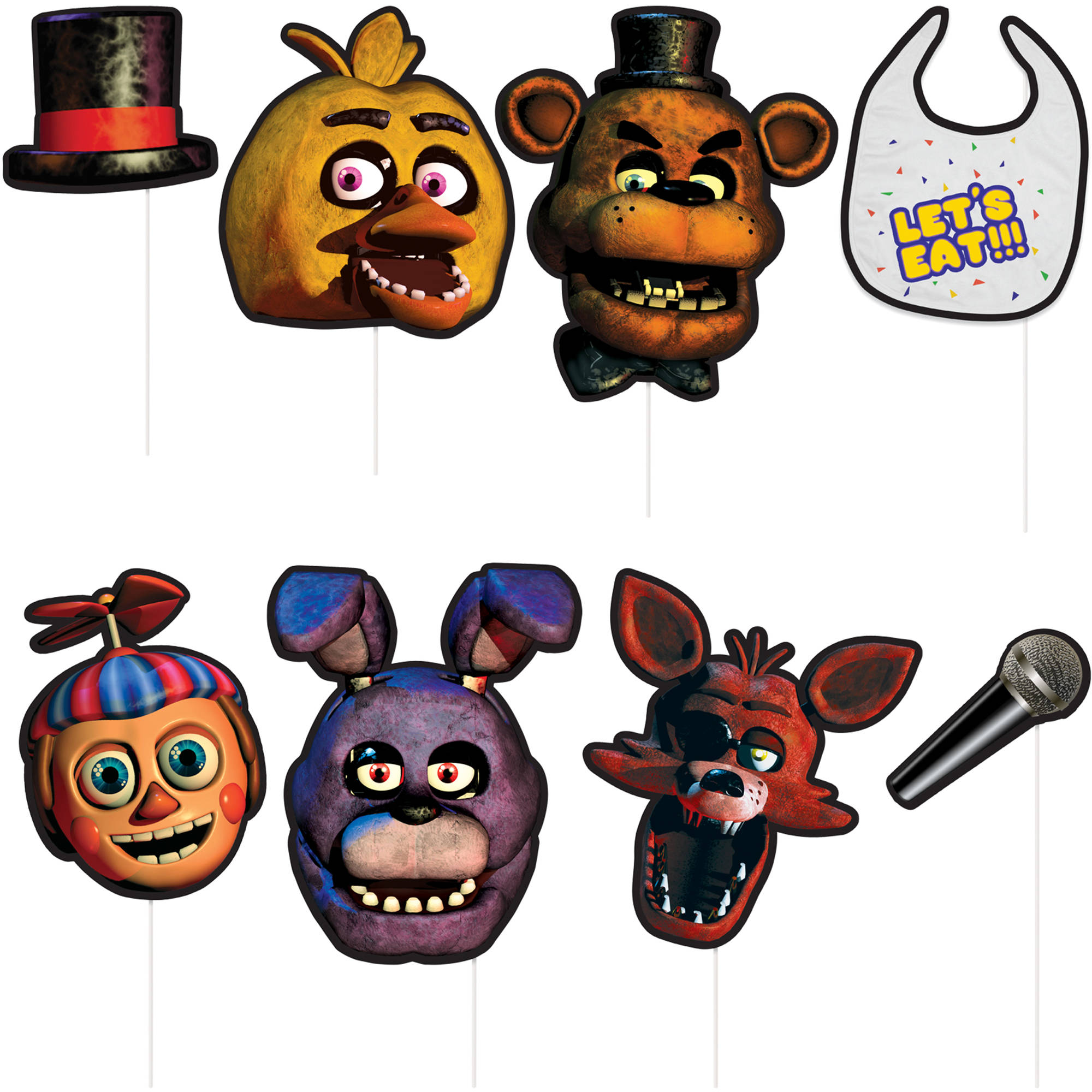 Plastic Tablecover Birthday Party Supplies Five Nights at Freddy/'s Let/'s Eat