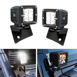 A-pillar Pod Boost (iJDMTOY 40W High Power CREE LED Pod Lights w/ Front Windshield A-Pillar Panel Mounting Brackets For 2007-2017 Jeep Wrangler)