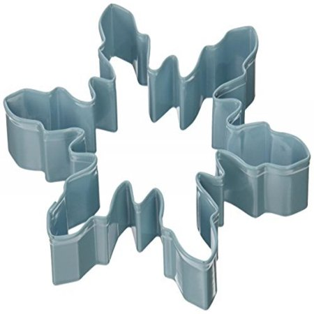 Snowflake Cookie Cutter - R & M Polyresin Coated Snowflake Wide Cookie Cutter, 5-Inch, Blue