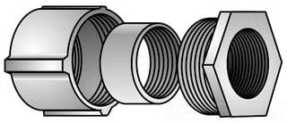 Oz//Gedney 14-75G duct iron 3//4 1hole strap rigid