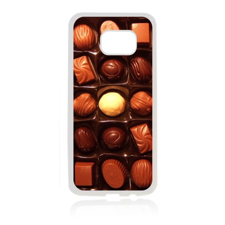 Box of Chocolates Illusion Flat Print Design White Rubber Thin Case Cover for the Samsung Galaxy s8 Plus / s8+/ s8p - Samsung Galaxy s8 Plus Accessories - s8 + case