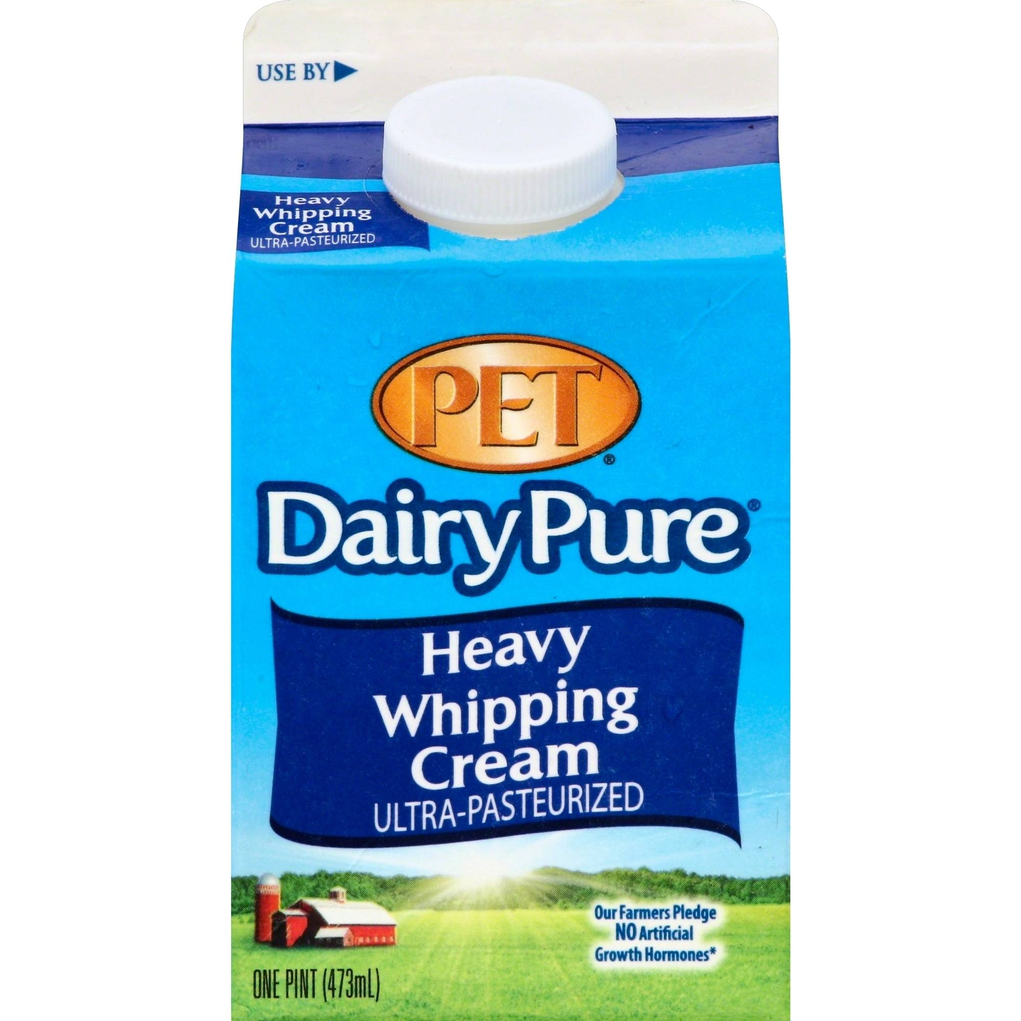 Pet Dairy Pure Ultra-Pasteurized Heavy Whipping Cream,  1 pt