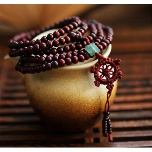 Merit 15934 Red Sandalwood Falun Knot Bracelet