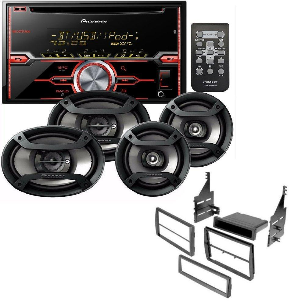 """Pioneer Package: CD Receiver Double Din, Pair 6.5"""" 2-Way & Pair 6""""x9"""" 3-Way Speakers Car Radio Stereo CD Player Dash Install Mounting Trim Bezel Panel Mount"""