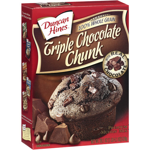 Duncan Hines® Simple Mornings™ Triple Chocolate Chunk Muffin Mix 18.2 oz Box