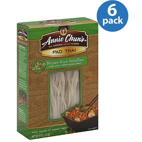 Annie Chun's Pad Thai Brown Rice Noodles, 8 oz, (Pack of 6)