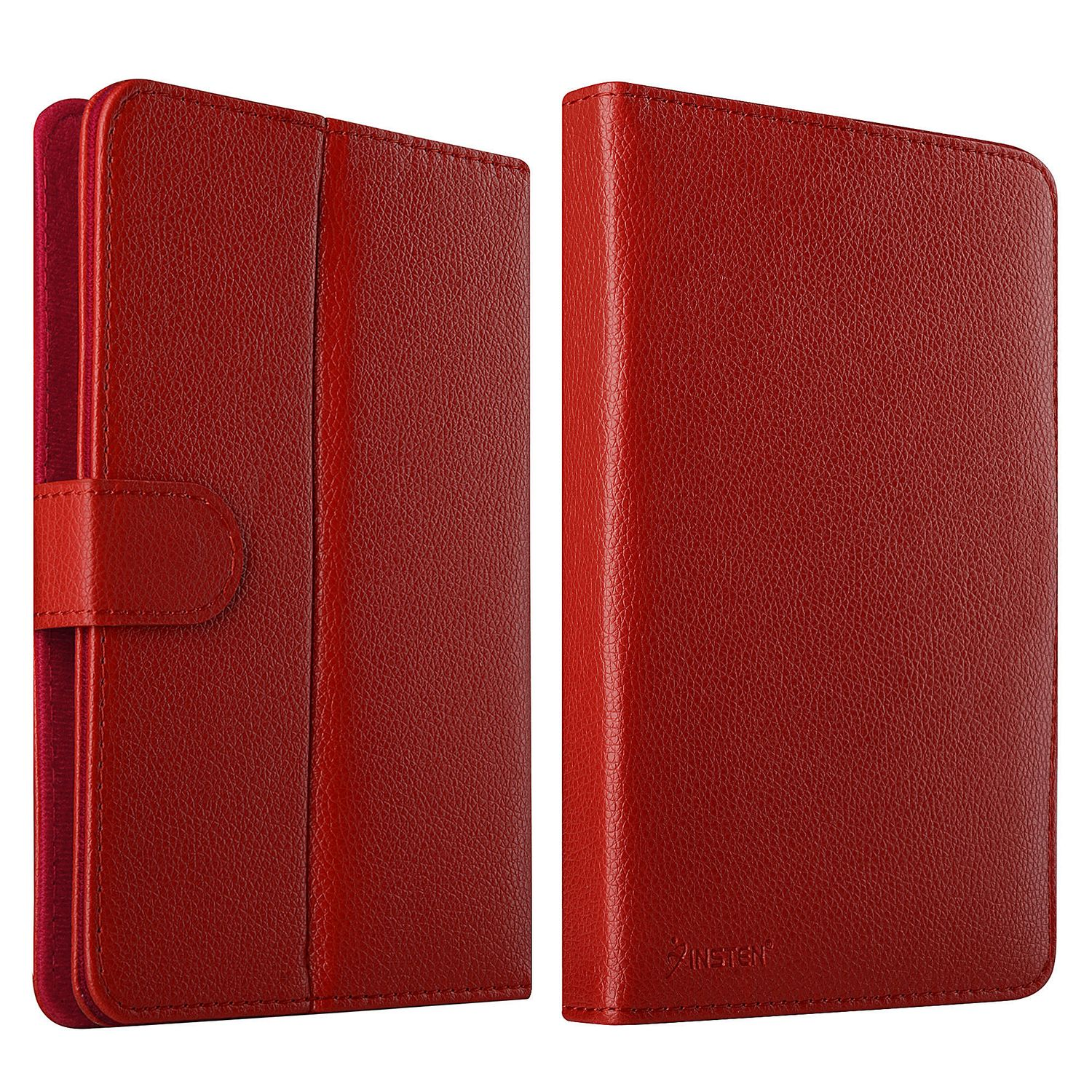 "Insten Leather Universal Stand Folio Case for 7"" Tablets Galaxy Tab 4 3 2 / RCA 7 Voyager II / Nextbook Ares 7 / FileMate Clear 7 / Visual Land Prestige Pro 7DS 7D / Ematic 7 / iPad Mini - Red"
