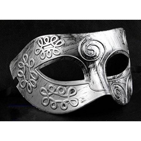 retro roman gladiator halloween party masks silver men's masquerade mask by friendshops