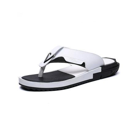 89a40f261e06 Tanleewa - Flip Flops for Men Anti-Slip Summer Beach Slippers Large Size  Extra Wide Platform Thong Sandals - Walmart.com