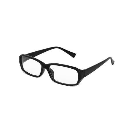 Plastic Horned Rim Clear Lens Plano Eye Glasses for Men And (Name Brand Glasses For Men)