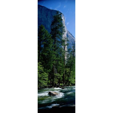 Merced River and El Capitan Yosemite National Park Ca Print Wall Art