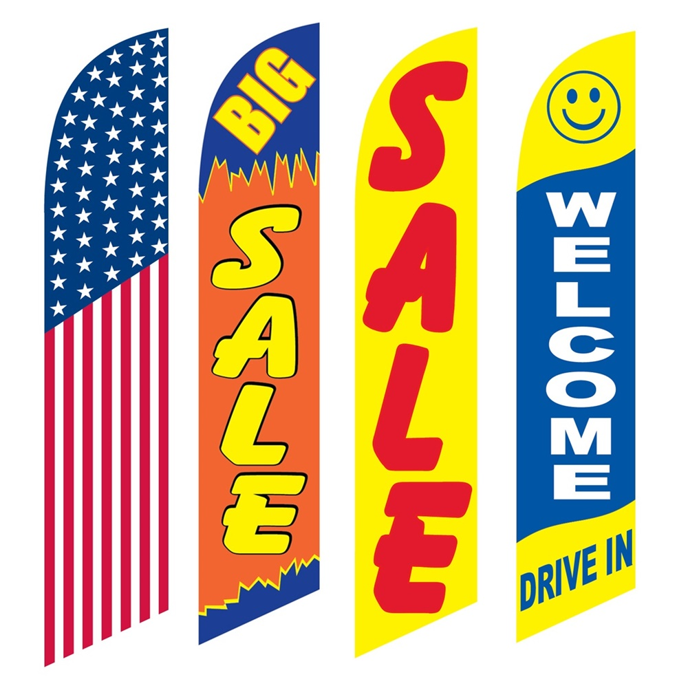 4 Advertising Swooper Flags America Big Sale Welcome Drive In Sale