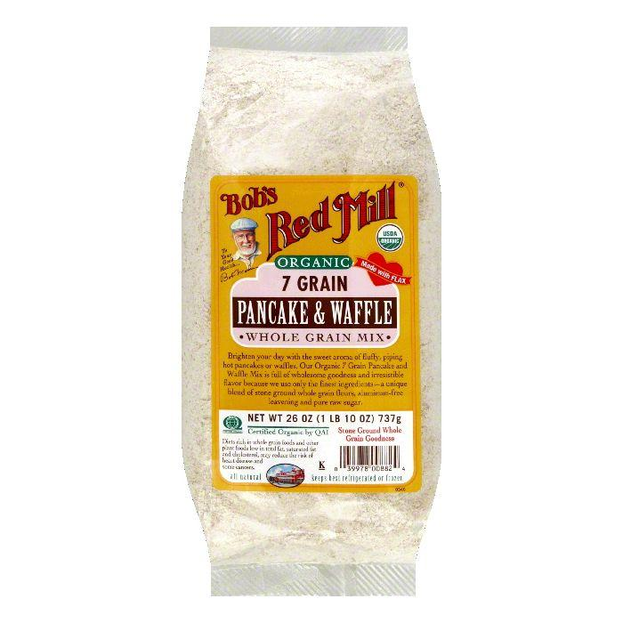 Bobs Red Mill Pancake & Waffle Mix 7 Grain Organic, 26 OZ (Pack of 4) by