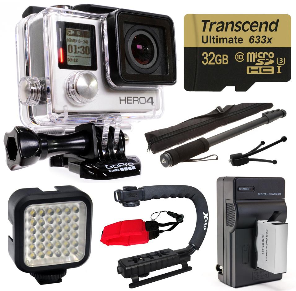 GoPro Hero 4 HERO4 Black Edition 4K Action Camera Camcord...