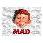 Mad Alfred Head Poly 20X28 Pillow Case White One Size