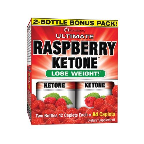 Phytogenix Laboratories Raspberry Ketone Dietary Supplement Caplets, 42 count Pack of, 2