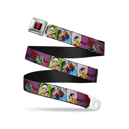 Gwen Stacy & Spider-Man Comic Scenes Stacked Webbing - Seatbelt Belt - Gwen Stacy Oscorp