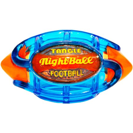 Tangle Night Football  Small  Blue Body Orange Tips