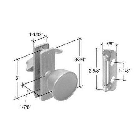 (CRL Aluminum Screen and Storm Door Knob Latch With 3