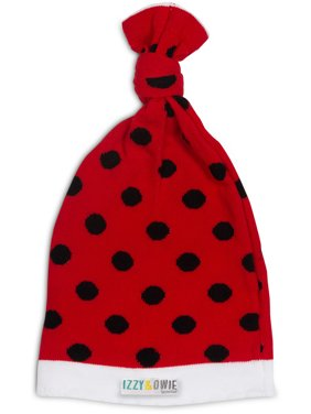 Izzy & Owie 0-12 Month Red & Black Ladybug Hat