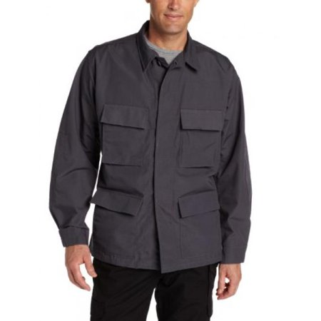 Men's BDU Coat, Dark Grey, Large Long
