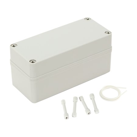 """7.1""""x3.2""""x3.4"""" ABS Waterproof Junction Box Universal Electric Project Enclosure"""