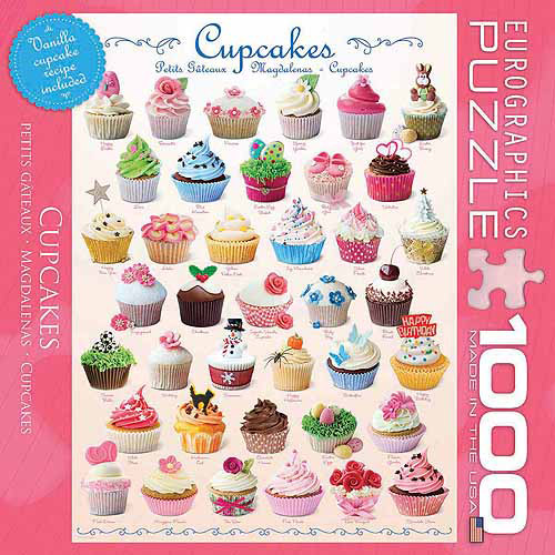 EuroGraphics Cupcakes 1000-Piece Puzzle, Small Box by Generic