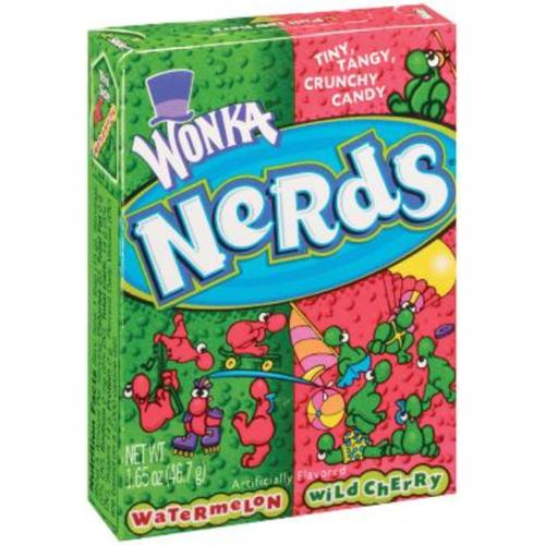 Nerds Sour Wild Cherry & Watermelon Punch Candy 36 pack (1.65oz per pack) (Pack of 3)