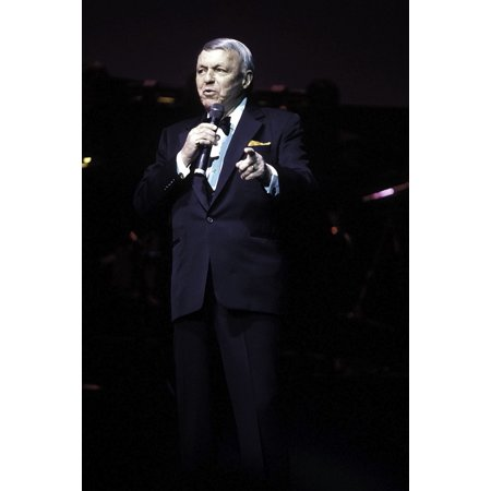 - Frank Sinatra performing on stage at Radio City Music Hall in New York City Photo Print