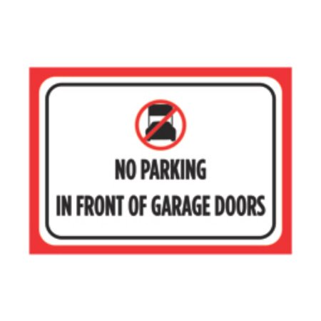 Aluminum Metal No Parking In Front Of Gate Large Print Red Black White Poster Car Picture Symbol Notice Busine, 12x18